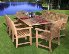9 Pc. Newcastle  Extendable Dining Set