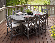 7 Pc. Chippendale Dining Set PWS121