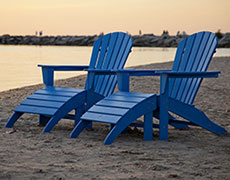 4 Pc. South Beach Adirondack Set PWS137-1