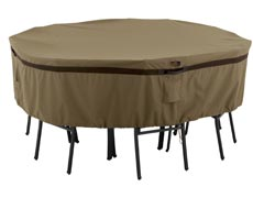 Hickory Round Medium Table and Chair Cover