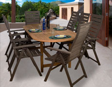 9 Pc. San Marino Extendable Dining Set