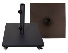 Steel 120 lb. Umbrella Base With Casters BSK120