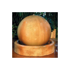 Ball and Ring Base Floor Fountain