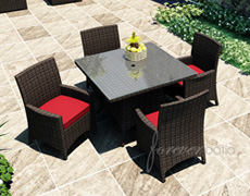 5 Pc. Capistrano Square Dining Set FP-CAP-5SQDN-MC