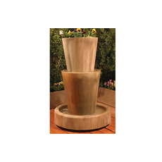 Bi-Level Jug with Planter Floor Fountain