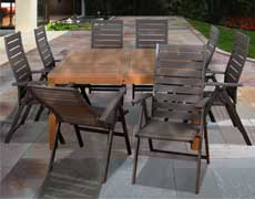 9 Pc. Tucson Square Dining Set