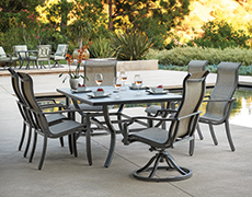 Aragon 7-Pc. Rectangular Sling Dining Set