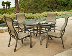 Aragon 5-Pc. Sling Dining Set