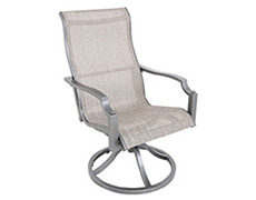 Aragon Sling Swivel Dining Chair 17004299