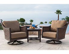 Biscay 3 Pc. Swivel Lounge Chat Set