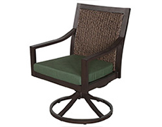 Biscay Wicker Swivel Dining Chair A085200-02-SCAF