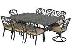 "Bridgetown 9-Piece Rectangle Dining Set 84"" x 60"" Monarch RCDTMN8460-BT"