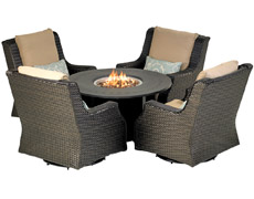 "Rome 5-Piece Chat Set with 48"" Fire Table RMDSG5"
