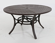 "Allegro Cast Slats 54"" Round Dining Table C0154RD-01-CRPN"