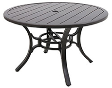 "Laurel Center Ring Slats 48"" Round Dining Table L1248RD-01-FPCN"