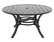"Laurel Center Ring Slats 54"" Round Dining Table L1254RD-01-FPCN"