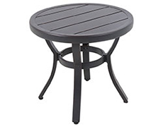 Laurel Center Ring Slats Round Side Table 17005586