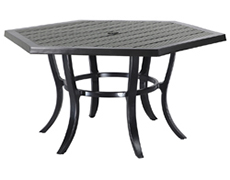 "Channel 61"" Hexagon Dining Table 10196A61"
