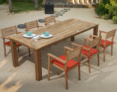 7 Pc. Sylvan Teak Dining Set HL-SYLV-TK-7DS