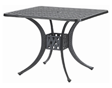"""Coordinate 36"""" Square Dining Table 10310D36"""