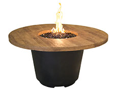 """Reclaimed Wood"" Cosmo Round Fire Table 645-BA"