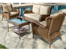 Gibson All Weather Wicker Deep Seating Conversation Set 43-1251