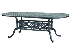 "Grand Terrace 42"" x 86"" Oval Dining Table 103400B3"
