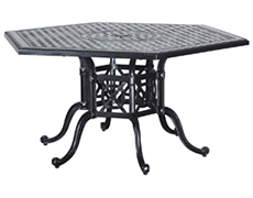"Grand Terrace 61"" Hexagon Dining Table 10346A61"