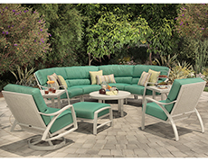 10 Pc. Heritage Woven Deep Seating Sectional