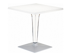 "Ice 24"" Square Dining Table ISP550-WHI"