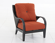 Indies Wicker Lounge Chair A105100-02-FCTB