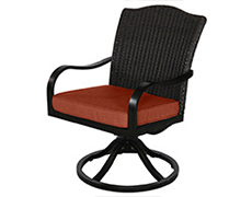 Indies Wicker Swivel Dining Chair A105200-02-SCTB