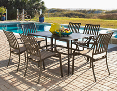 Island Breeze 7 pc Slatted Dining Group (PJO-1001-ESP-7PC/7SD)