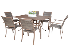 7 Pc. Island Cove Dining Set (PJO-8001-ESP-7PC/7PCSW)