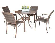 5 Pc. Island Cove Dining Set (PJO-8001-ESP-5PC/5PCSW)