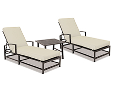 La Jolla Chaises with End Table 401-9-SET