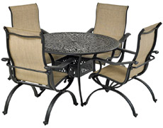 "Laguna 5-Piece Round Dining Set 48"" Monarch RDTMN48-LG"