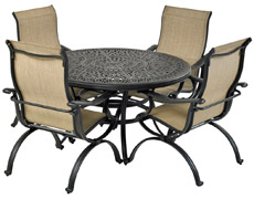 "Laguna 5-Piece Round Dining Set 52"" Monarch RDTMN52-LG"