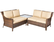 Logan All Weather Wicker Deep Seating Sectional Set 43-1278