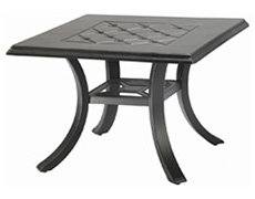 "Madrid II 30"" Square End Table 10430E30"