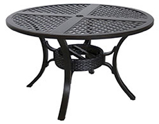 "Somerset Mixed Material Cast 48"" Round Dining Table C1448RD-01-CRCN"