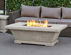 Monaco Rectangle Low Height Fire Table 11704LP