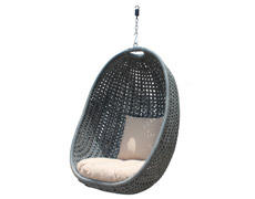 Nimbus Outdoor Hanging Chair - Textured Slate HL-NMBS-TS-BSKT
