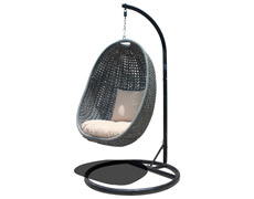 Nimbus Hanging Chair And Stand - Textured Slate HL-NMBS-TS-2SW-ST