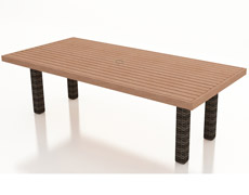 "Pavilion 94"" Dining Table with Durawood Top FP-PAV-94DTDW-SW"