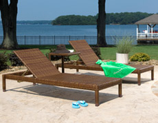3 Pc. St Barths Chaise Lounge Set (PJO-3001-BRN-3PCC)
