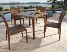 5 Pc. St. Barths Dining Set (PJO-3001-BRN-5PCS/5PCA/5PCSD)