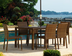 7 Pc. St. Barths Dining Set (PJO-3001-BRN-7PCS/7PCA/7PCSD)
