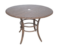 "Key Biscayne 42"" Round Dining Table (PJO-7001-ATQ-RD)"