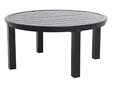 "Indies Post Leg Slats 48"" Round Chat Table L8848RD-01-FPTN"